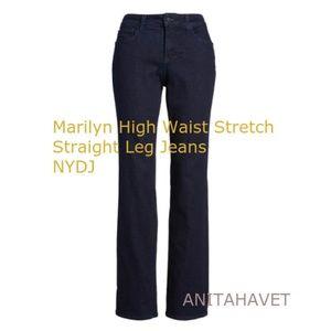 NYDJ Marilyn Straight Leg Style MDNM2013 Rinse